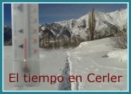 Alquiler de apartamentos en Cerler, temperatura actual en Cerler, Aramón